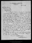 Letter from C. Hart Merriam to John Muir, 1899 Apr 1. by C Hart Merriam