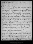 Letter from S. Hall Young to John Muir, 1899 Aug 31. by S Hall Young