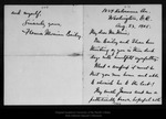 Letter from Florence Merriam Bailey to John Muir, 1905 Aug 23.