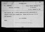 Letter from E[dward] H. Harriman to John Muir, 1905 Jan 12.