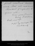 Letter from Emily O. [P.] Wilson to [John Muir], [1904?] Feb 22.