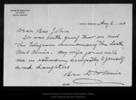 Letter from D[aniel] H. Muir to [John Muir], 1905 Aug 6.