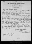 Letter from P. A. Doran to John Muir, 1905 Sep 28.