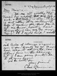 Letter from Cha[rle]s F. Lummis to John Muir, 1905 Aug 29.