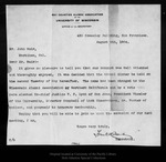 Letter from Frank Cornish to John Muir, 1904 Aug 5.