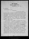 Letter from Irving Fisher to John Muir, 1905 Aug 8.