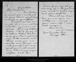 Letter from Emily O. [Pelton] Wilson to [John Muir], 1905 Aug 31.