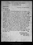 Letter from B[enjamin] F[ranklin] Tillinghast to John Muir, 1907 Oct 21.