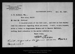 Letter from C. A. Ficke to J. E.Calkins, 1907 Oct 25.