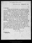 Letter from C[harles] S[prague] Sargent to John Muir, 1908 Feb 19.
