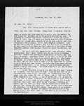 Letter from J. E. Calkins to John Muir, 1909 Jan 21. by J E. Calkins