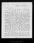 Letter from J. E. Calkins to John Muir, 1909 Apr 26. by J E. Calkins