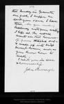 Letter from John Burroughs to John Muir, 1909 Sep [3?]. by John Burroughs