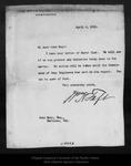 Letter from W[illia]m H. Taft to John Muir, 1911 Apr 6. by W[illia]m H. Taft