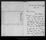 Letter from John Burroughs to John Muir, [1911] Jan 18. by John Burroughs