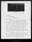 Letter from C. A. Brant to John Muir, 1911 Jan 6. by C A. Brant