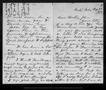 Letter from Maggie R.[Margaret Muir Reid] to John Muir, 1886 Aug 28.