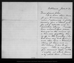 Letter from Ina Coolbrith to [John Muir], 1886 Jun 8.