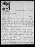 Letter from O. H. Congar to John Muir, 1887 Dec 5. by O H. Congar