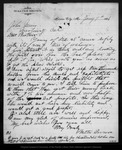 Letter from Walter Brown to John Muir, 1886 Jan 7.