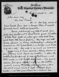Letter from James D[avie] Butler to John Muir, 1886 Mar 15.