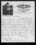 Letter from J[ames] Bryce to [Joseph Le Conte], 188[1] Oct 26.