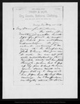 Letter from D[avid] G[ilrye] Muir to Annie [L. Muir], 1888 May 15.