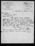 Letter from J. Dewing Co. M. S. D[ewing] to John Muir, 1887 Sep 3.