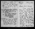 Letter from Ed.S[cribner's] M[onthly] [Robert Underwood Johnson] to John Muir, 1879 Feb 19.