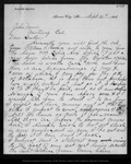 Letter from Walter Brown to John Muir, 1886 Sep 10.