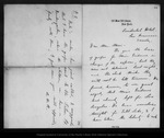 Letter from Alice W. Rollins to [Louie] Muir, [ca. 1887].