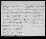 Letter from Galen Clark to John Muir, 1885 Mar 11.