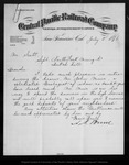 Letter from A. N. Towne to Mr. Scott, 1876 Jul 5.