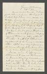 Letter from [John Muir] to Sarah [Muir Galloway], 1873 Sep 3.