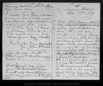 Letter from John Muir to [Jeanne C.] Carr, 1874 Nov 1.