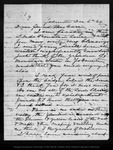 Letter from [John Muir] to Mrs. [Jeanne C.] Carr, 1869 Dec 6.
