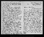 Letter from John Muir to [Jeanne C.] Carr, 1879 Apr 9.
