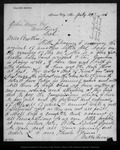 Letter from Walter Brown to John Muir, 1886 Jul 29.