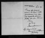 Letter from Maures Horner to Joseph Le Conte, 1890 Sep 18.
