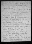 Letter from John Muir to Louie [Strentzel Muir], 1889 Jul 12.