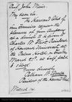 Letter from Pelham W. Ames to John Muir, 1892 Mar 14.