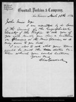 Letter from Chas. Goodall to John Muir, 1892 Mar 10.