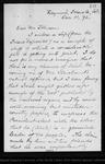 Letter from Geo[rge] G. Mackenzie to [Robert Underwood] Johnson, 1892 Dec 11.