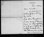Letter from [John Muir] to [Annie] Wanda [Muir], 1892 Feb 1.