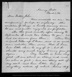 Letter from Mary [Muir Hand] to John Muir, 1892 Mar 6.