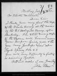 Letter from John Muir to Elliott McAllister, 1892 Jul 22.