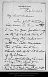 Letter from [John Muir] to Helen [Muir], 1892 Feb 10.