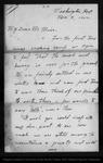 Letter from Vernon Bailey to John Muir, 1900 Nov 3.