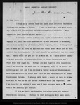 Letter from C[harles] S[prague] Sargent to John Muir, 1900 Oct 17.