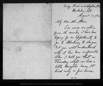 Letter from Charles [A.] Keeler to John Muir, 1900 Aug 11.